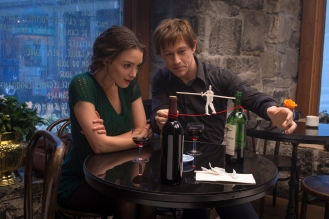 Philippe Petit (Joseph Gordon-Levitt) shares his dream with Annie (Charlotte Le Bon) in TriStar Pictures' THE WALK.