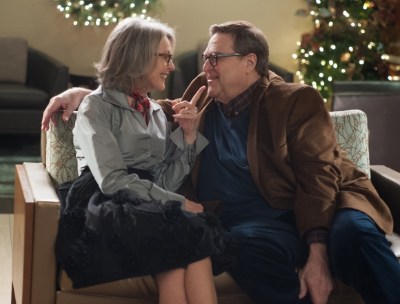 (Left to right) Diane Keaton and John Goodman in LOVE THE COOPERS to be released by CBS Films and Lionsgate.