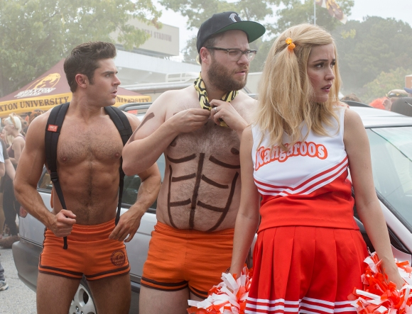 Zac Efron, Seth Rogen & Rose Byrne go undercover in 'Neighbors 2: Sorority Rising.'