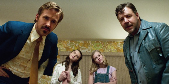 Ryan Gosling, Maddie Compton, Angourie Rice and Russell Crowe in 'The Nice Guys'