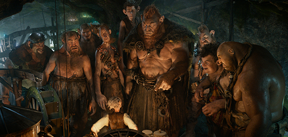 The other, much bigger, much nastier giants bully the BFG.