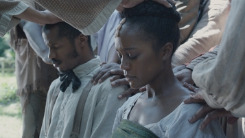 Aja Naomi King plays Nat Turner's wife, Cherry.